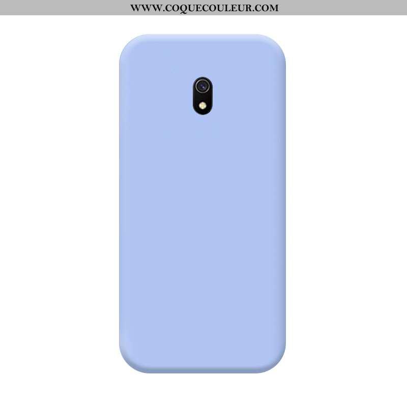 Étui Xiaomi Redmi 8a Protection Tempérer Membrane, Coque Xiaomi Redmi 8a Délavé En Daim Bleu