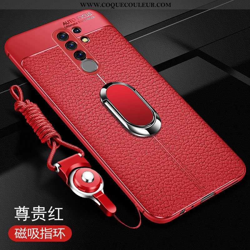 Housse Xiaomi Redmi 9 Ultra Tout Compris Membrane, Étui Xiaomi Redmi 9 Légère Petit Rouge
