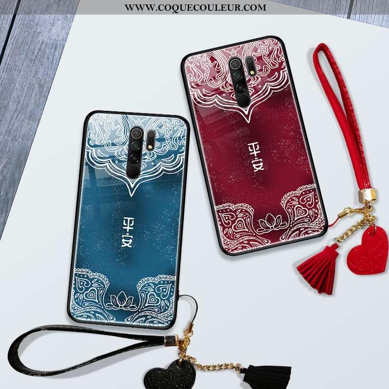 Coque Xiaomi Redmi 9 Créatif Téléphone Portable, Housse Xiaomi Redmi 9 Vintage Vent Rouge
