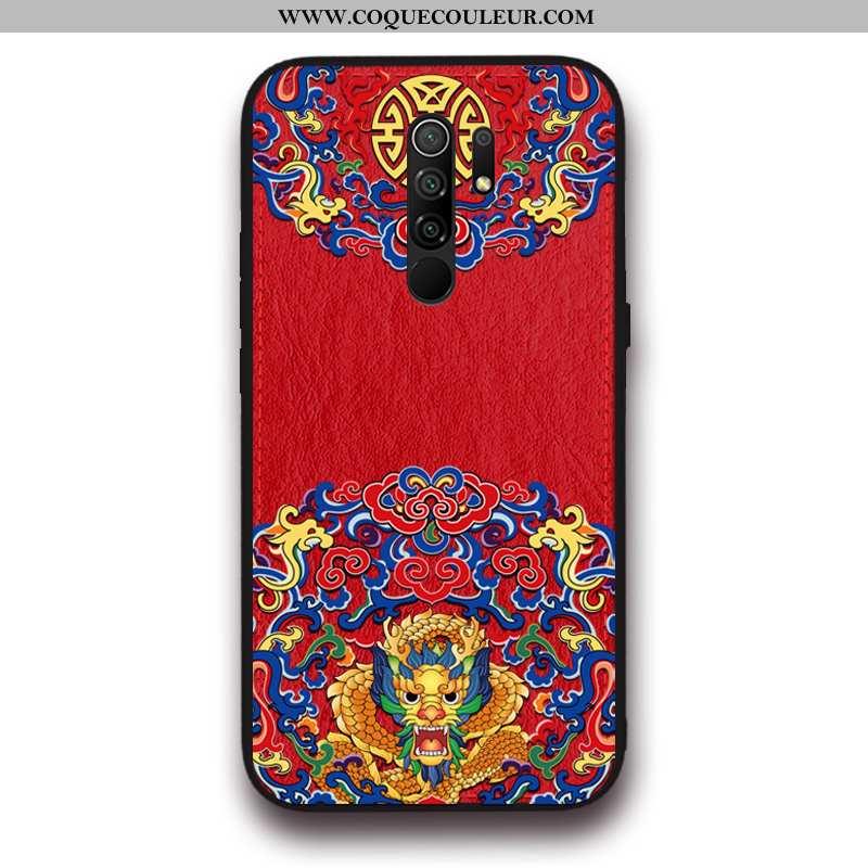 Housse Xiaomi Redmi 9 Silicone Créatif Tout Compris, Étui Xiaomi Redmi 9 Protection Tendance Rouge