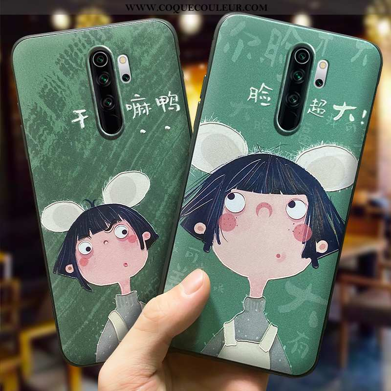 Coque Xiaomi Redmi 9 Légère Tendance Créatif, Housse Xiaomi Redmi 9 Fluide Doux Incassable Verte