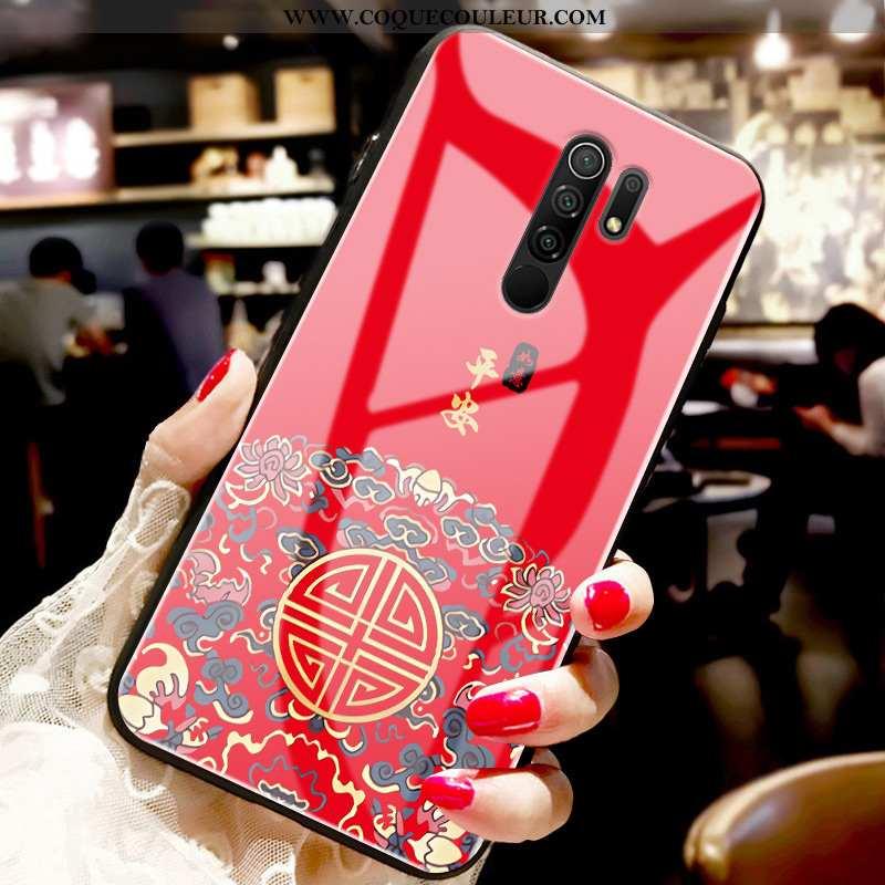 Coque Xiaomi Redmi 9 Tendance Tout Compris Étui, Housse Xiaomi Redmi 9 Fluide Doux Rouge