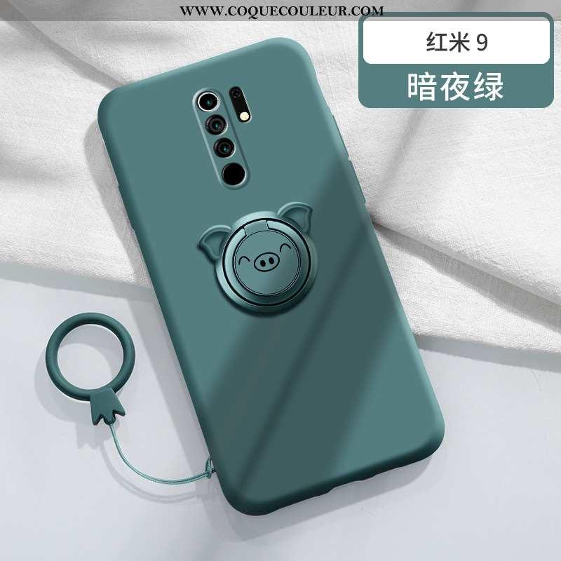 Coque Xiaomi Redmi 9 Silicone Nouveau Magnétisme, Housse Xiaomi Redmi 9 Protection Vert Verte