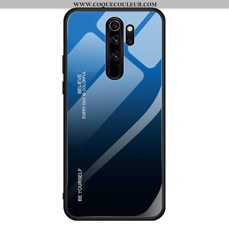 Housse Xiaomi Redmi 9 Verre Difficile Net Rouge, Étui Xiaomi Redmi 9 Ornements Suspendus Bleu Foncé