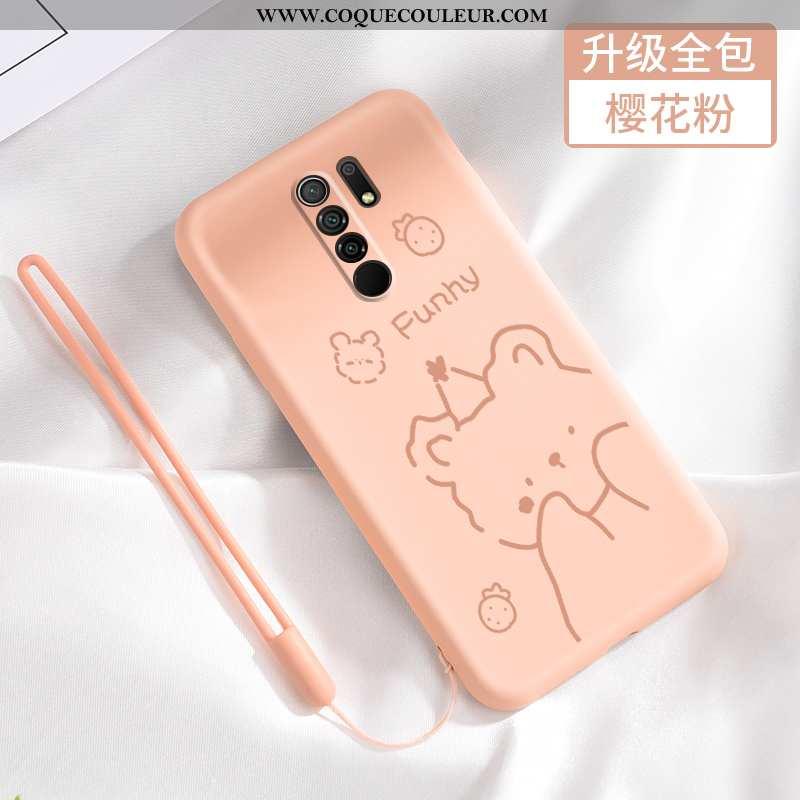 Étui Xiaomi Redmi 9 Fluide Doux Délavé En Daim Petit, Coque Xiaomi Redmi 9 Silicone Tout Compris Ros