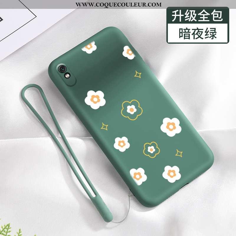 Étui Xiaomi Redmi 9a Fluide Doux Tendance Frais, Coque Xiaomi Redmi 9a Silicone Net Rouge Verte