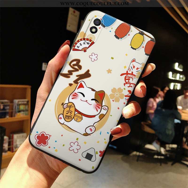 Coque Xiaomi Redmi 9a Dessin Animé Richesse Blanc, Housse Xiaomi Redmi 9a Silicone Téléphone Portabl