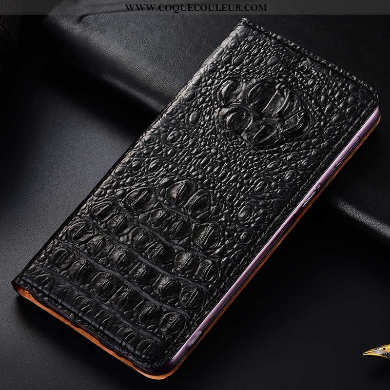 Coque Xiaomi Redmi 9a Protection Étui Noir, Housse Xiaomi Redmi 9a Cuir Véritable Noir