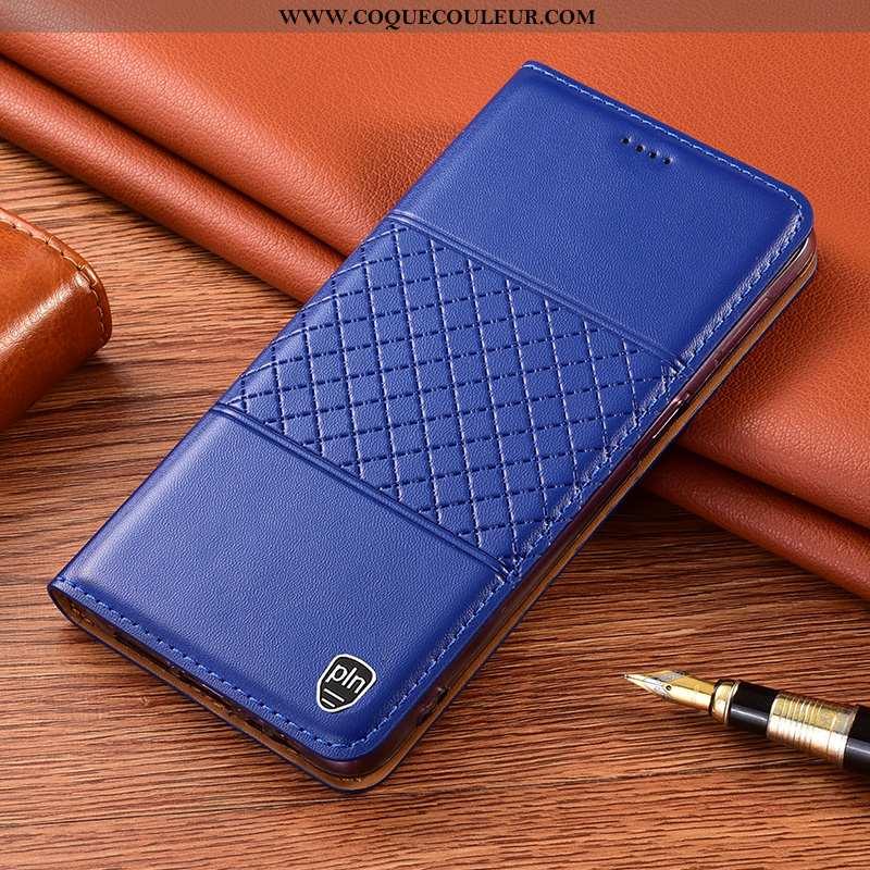 Coque Xiaomi Redmi 9a Cuir Véritable Rouge, Housse Xiaomi Redmi 9a Protection Étui Bleu