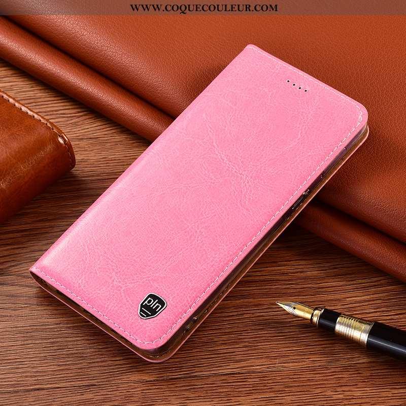 Coque Xiaomi Redmi 9a Protection Rose Rouge, Housse Xiaomi Redmi 9a Cuir Véritable Incassable