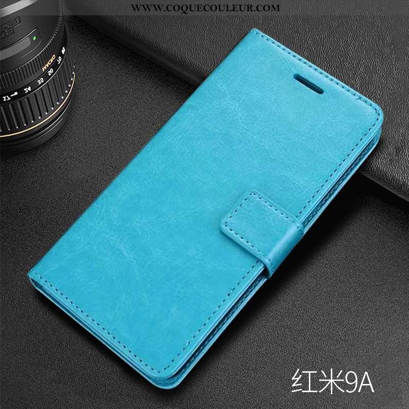 Housse Xiaomi Redmi 9a Silicone Fluide Doux Coque, Étui Xiaomi Redmi 9a Protection Nouveau Bleu