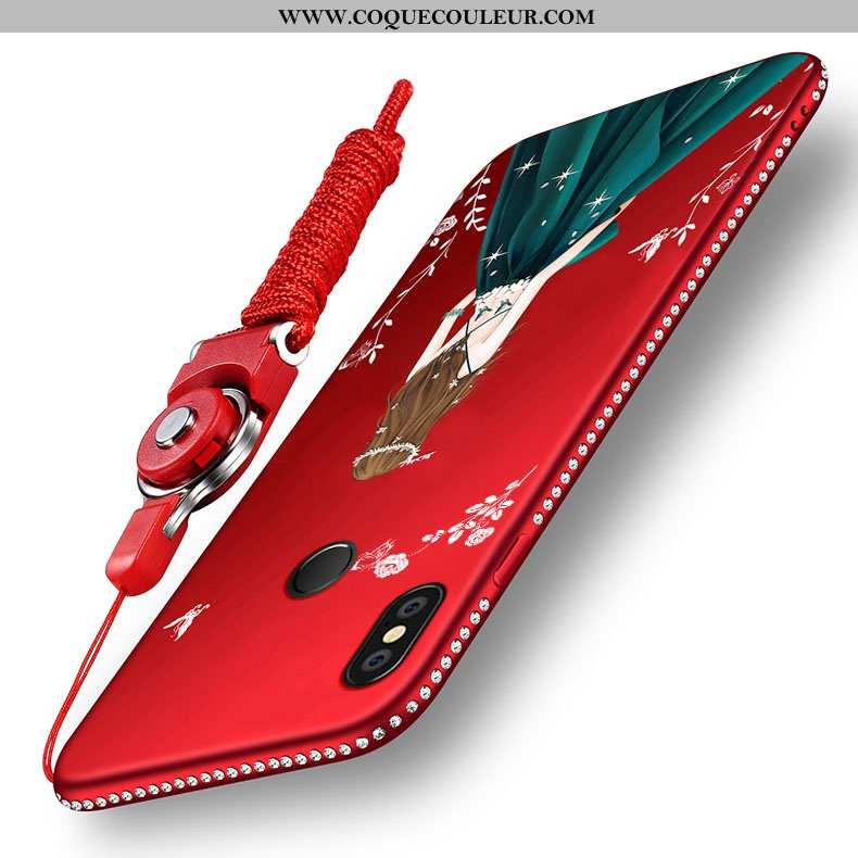 Étui Xiaomi Redmi Note 5 Délavé En Daim Petit Incassable, Coque Xiaomi Redmi Note 5 Fluide Doux Haut