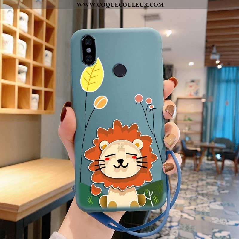 Étui Xiaomi Redmi Note 5 Dessin Animé Amoureux, Coque Xiaomi Redmi Note 5 Fluide Doux Silicone Bleu