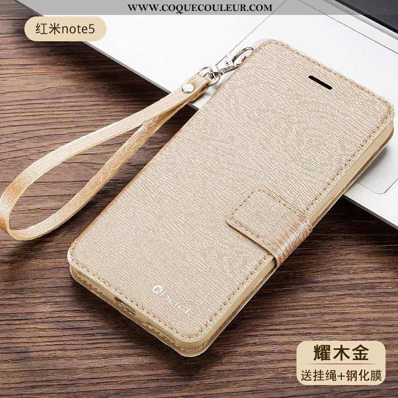 Étui Xiaomi Redmi Note 5 Fluide Doux Housse Incassable, Coque Xiaomi Redmi Note 5 Silicone Or Doré