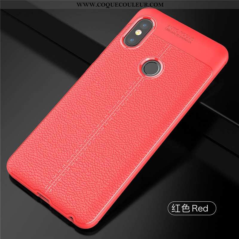 Coque Xiaomi Redmi Note 5 Cuir Luxe Silicone, Housse Xiaomi Redmi Note 5 Modèle Fleurie Petit Rouge
