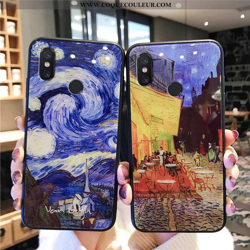 Coque Xiaomi Redmi Note 5 Verre Ciel Étoilé Coque, Housse Xiaomi Redmi Note 5 Personnalité Étui Bleu