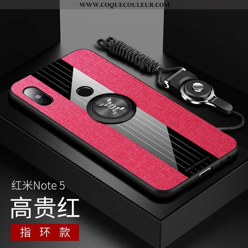Étui Xiaomi Redmi Note 5 Protection Légère Étui, Coque Xiaomi Redmi Note 5 Verre Ultra Rouge