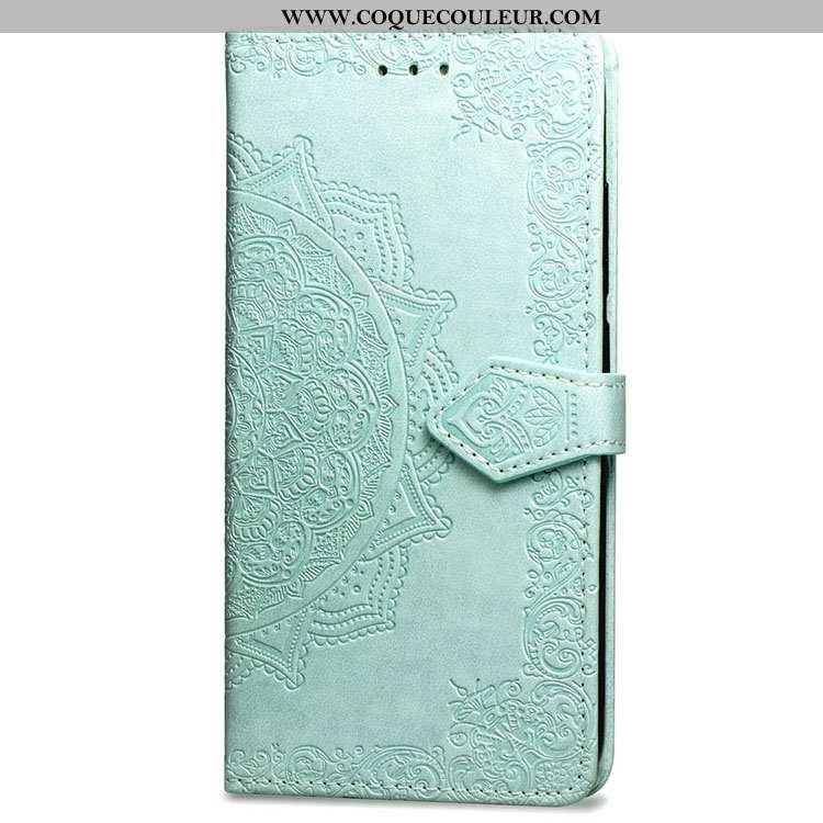 Étui Xiaomi Redmi Note 5 Cuir Téléphone Portable Coque, Coque Xiaomi Redmi Note 5 Fluide Doux Vert V