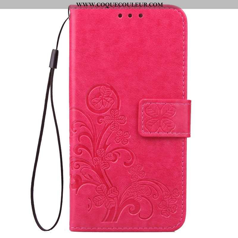 Étui Xiaomi Redmi Note 5 Protection Fluide Doux Housse, Coque Xiaomi Redmi Note 5 Cuir Rose