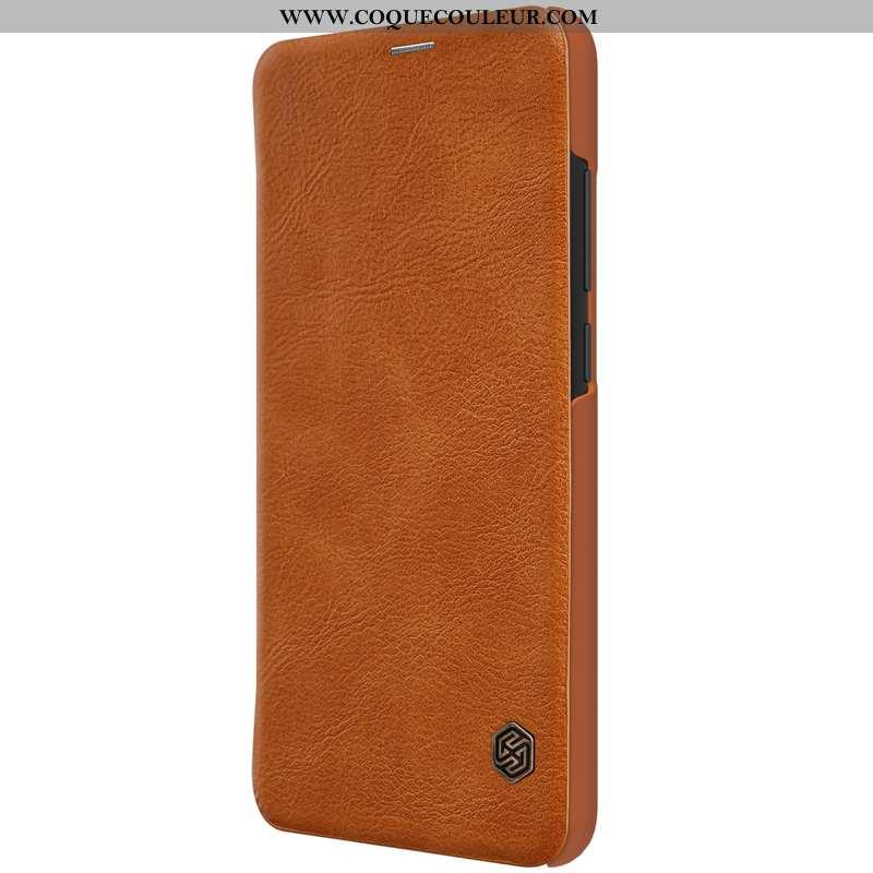 Coque Xiaomi Redmi Note 6 Pro Protection Rouge Carte, Housse Xiaomi Redmi Note 6 Pro Cuir Étui Marro