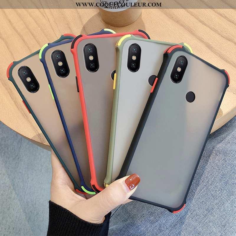 Étui Xiaomi Redmi Note 6 Pro Protection Noir Rouge, Coque Xiaomi Redmi Note 6 Pro Délavé En Daim Dif