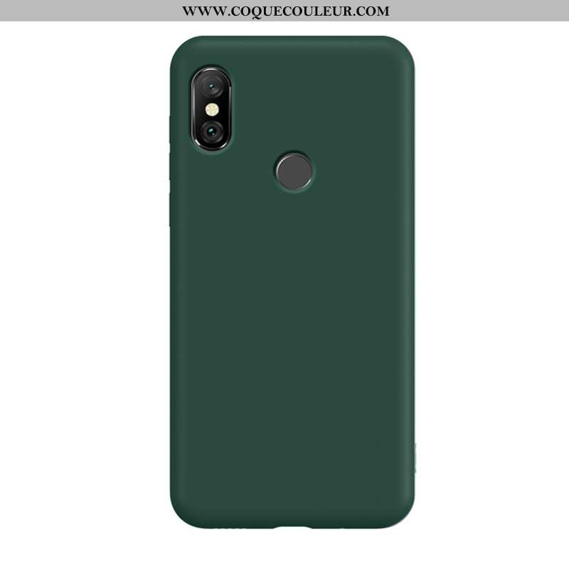 Étui Xiaomi Redmi Note 6 Pro Silicone Tempérer Téléphone Portable, Coque Xiaomi Redmi Note 6 Pro Per