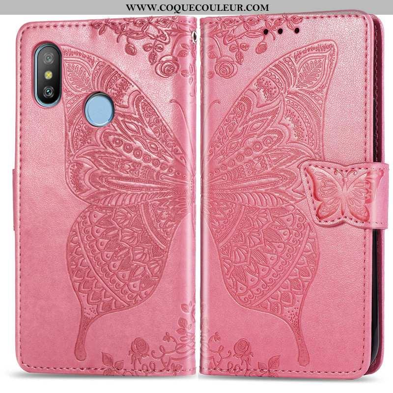Housse Xiaomi Redmi Note 6 Pro Gaufrage Étui Papillon, Xiaomi Redmi Note 6 Pro Charmant Ornements Su