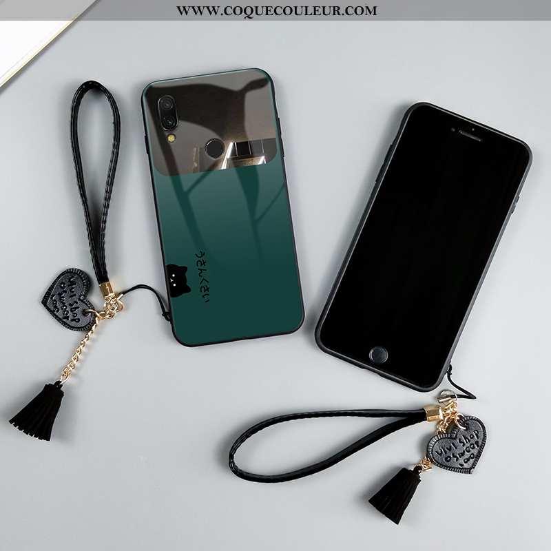 Housse Xiaomi Redmi Note 7 Créatif Tendance Chat, Étui Xiaomi Redmi Note 7 Dessin Animé Charmant Ver