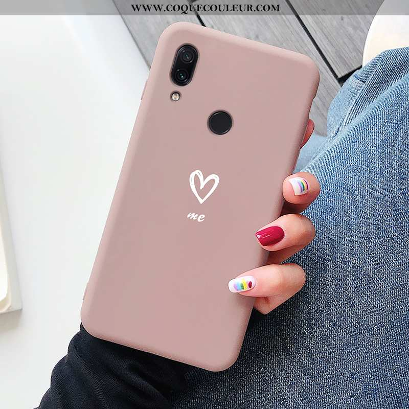 Étui Xiaomi Redmi Note 7 Protection Ultra Rouge, Coque Xiaomi Redmi Note 7 Créatif Rose