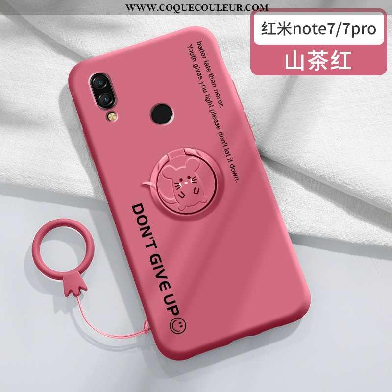 Coque Xiaomi Redmi Note 7 Tendance Rat Magnétisme, Housse Xiaomi Redmi Note 7 Silicone Net Rouge