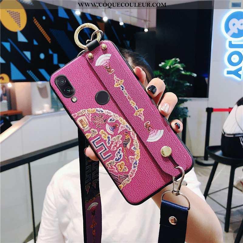 Housse Xiaomi Redmi Note 7 Légère Coque Petit, Étui Xiaomi Redmi Note 7 Fluide Doux Tendance Rose