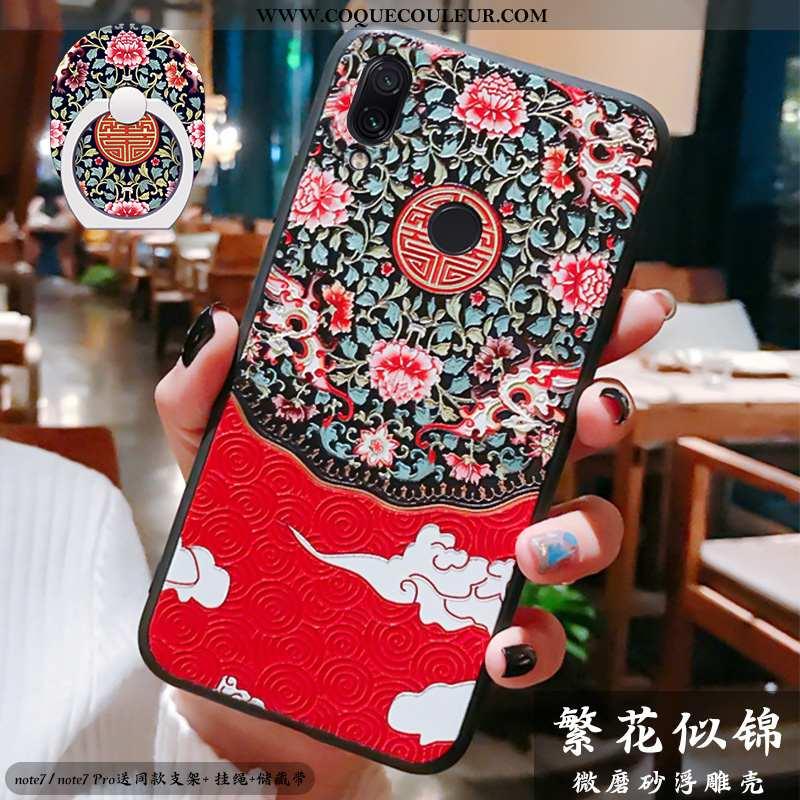 Housse Xiaomi Redmi Note 7 Gaufrage Ornements Suspendus Silicone, Étui Xiaomi Redmi Note 7 Ultra Inc
