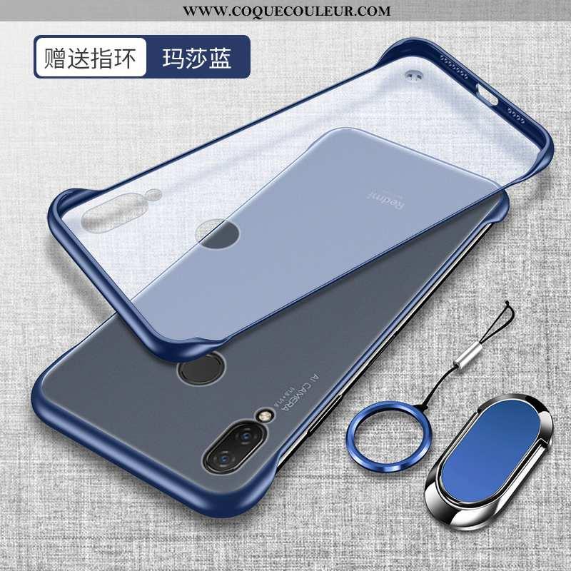 Étui Xiaomi Redmi Note 7 Tendance Border Rouge, Coque Xiaomi Redmi Note 7 Légère Silicone Bleu