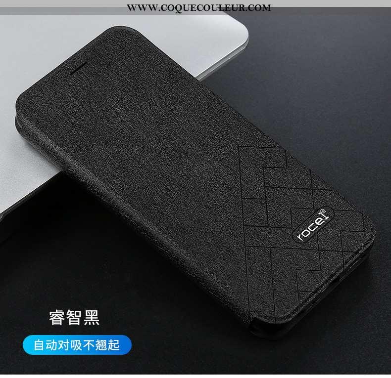 Étui Xiaomi Redmi Note 7 Cuir Noir Housse, Coque Xiaomi Redmi Note 7 Silicone Incassable