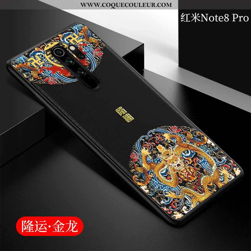 Coque Xiaomi Redmi Note 8 Pro Fluide Doux Cuir, Housse Xiaomi Redmi Note 8 Pro Protection Style Chin