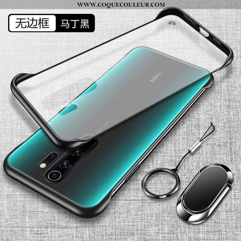 Housse Xiaomi Redmi Note 8 Pro Fluide Doux Noir Transparent, Étui Xiaomi Redmi Note 8 Pro Silicone D