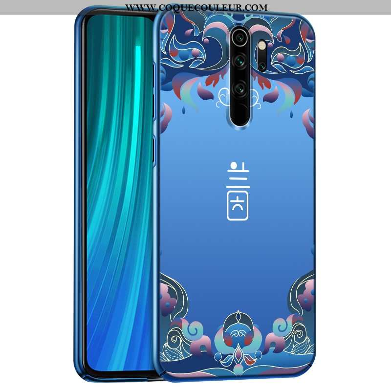 Coque Xiaomi Redmi Note 8 Pro Personnalité Bleu Difficile, Housse Xiaomi Redmi Note 8 Pro Délavé En