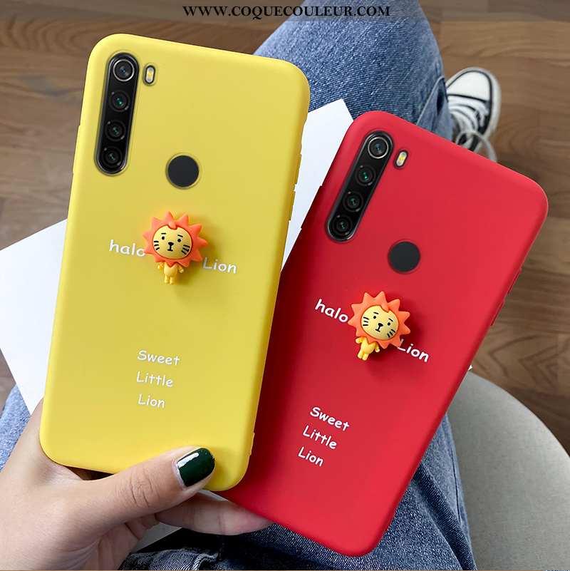 Étui Xiaomi Redmi Note 8t Charmant Tout Compris Lion, Coque Xiaomi Redmi Note 8t Tendance Jaune