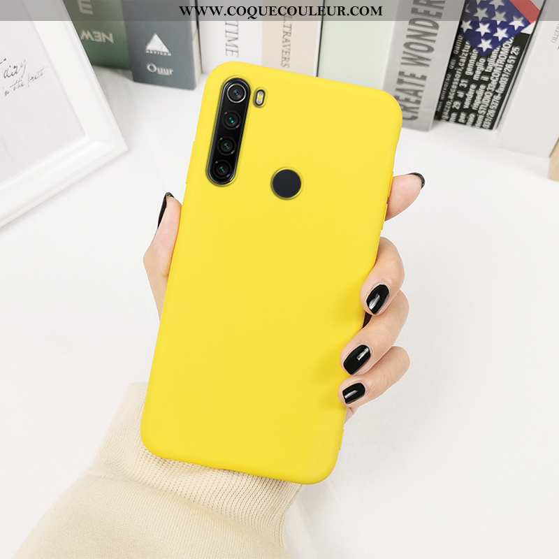 Étui Xiaomi Redmi Note 8t Créatif Protection Silicone, Coque Xiaomi Redmi Note 8t Tendance Jaune