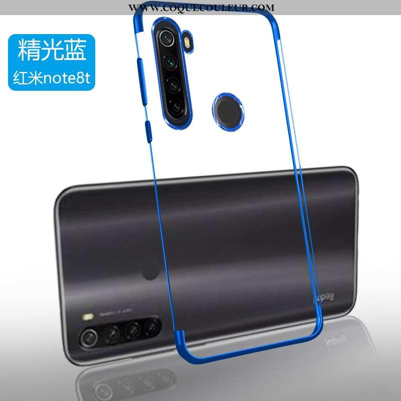 Étui Xiaomi Redmi Note 8t Légère Incassable Bleu, Coque Xiaomi Redmi Note 8t Fluide Doux Simple Bleu