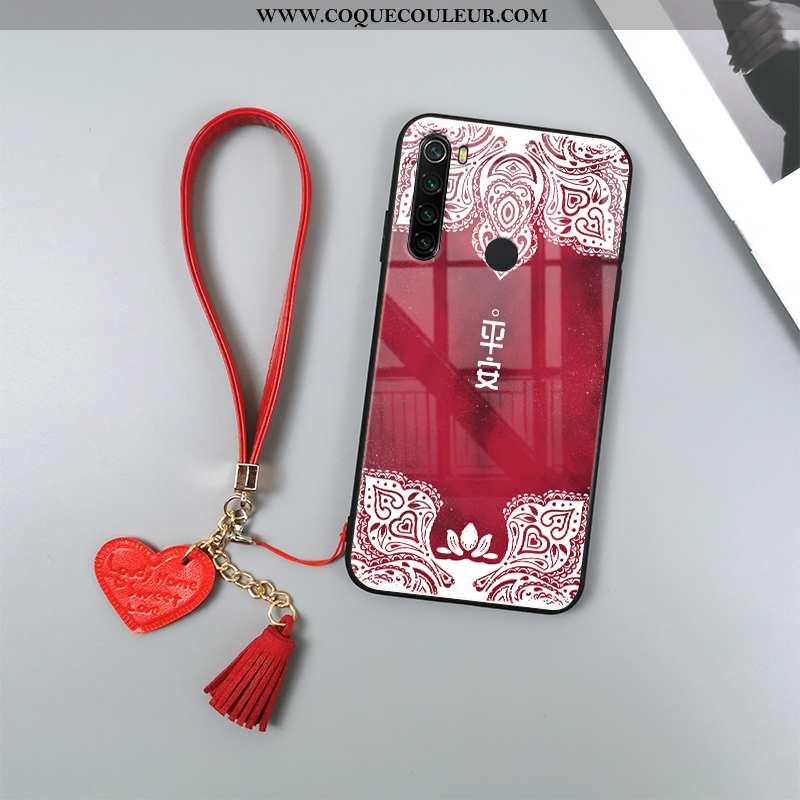 Housse Xiaomi Redmi Note 8t Verre Étui Totem, Xiaomi Redmi Note 8t Tendance Téléphone Portable Rouge