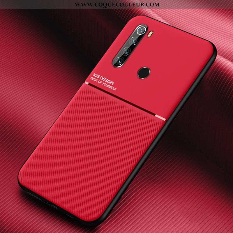 Étui Xiaomi Redmi Note 8t Silicone Incassable Modèle Fleurie, Coque Xiaomi Redmi Note 8t Cuir Rouge