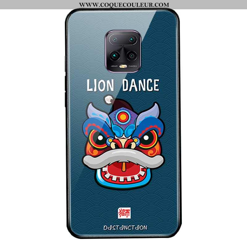 Étui Xiaomi Redmi Note 9 Pro Silicone Verre Rouge, Coque Xiaomi Redmi Note 9 Pro Protection Créatif
