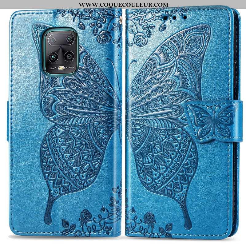 Étui Xiaomi Redmi Note 9 Pro Charmant Bleu Étui, Coque Xiaomi Redmi Note 9 Pro Cuir Gaufrage