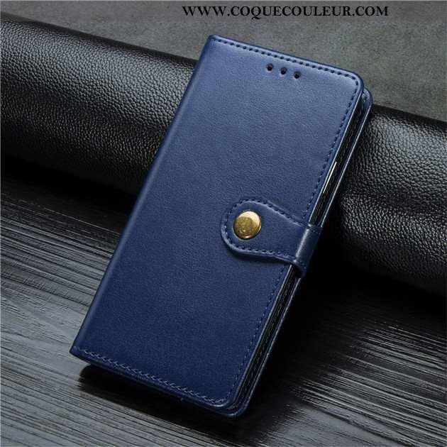 Coque Xiaomi Redmi Note 9 Pro Cuir Petit Bleu Marin, Housse Xiaomi Redmi Note 9 Pro Rouge Bleu Foncé