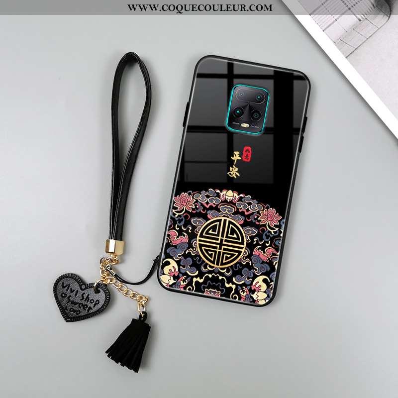 Étui Xiaomi Redmi Note 9 Pro Verre Noir Protection, Coque Xiaomi Redmi Note 9 Pro Créatif Miroir