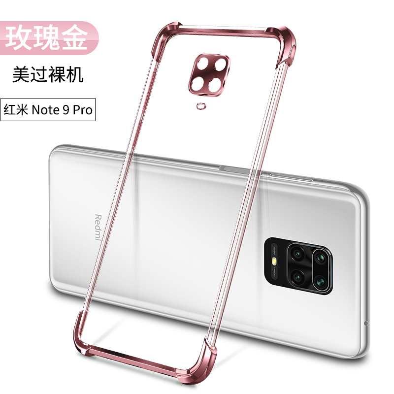 Coque Xiaomi Redmi Note 9 Pro Or Rouge Incassable, Housse Xiaomi Redmi Note 9 Pro Petit Ballon Doré
