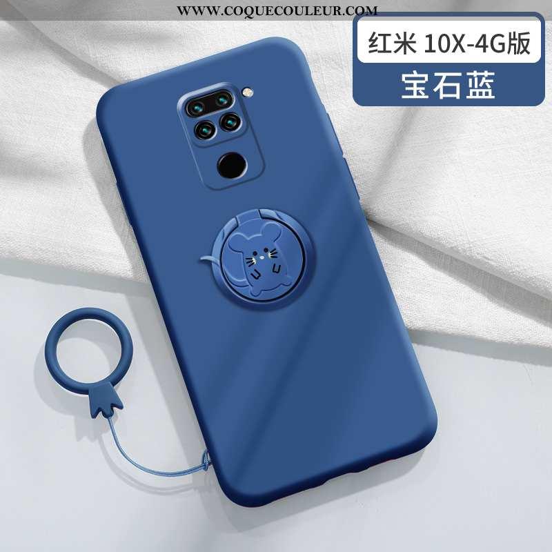 Housse Xiaomi Redmi Note 9 Légère Bleu Protection, Étui Xiaomi Redmi Note 9 Fluide Doux Créatif