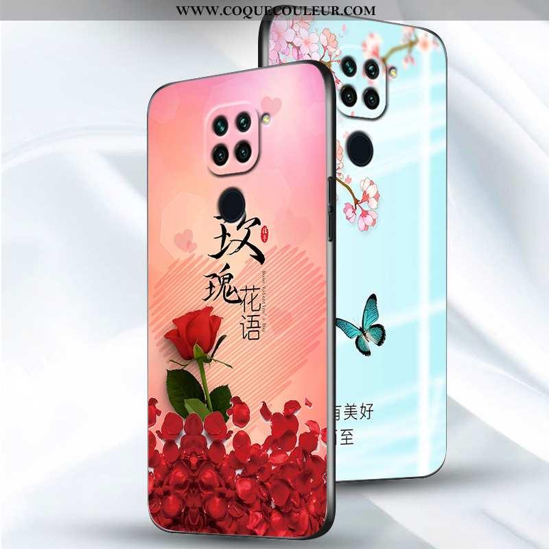 Housse Xiaomi Redmi Note 9 Délavé En Daim Silicone Fluide Doux, Étui Xiaomi Redmi Note 9 Personnalit