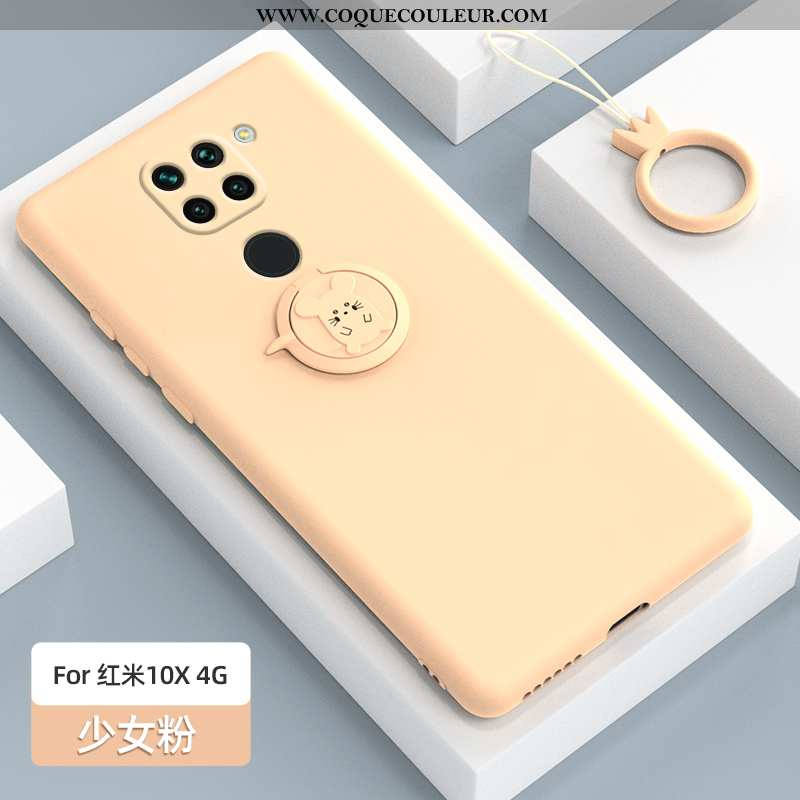 Housse Xiaomi Redmi Note 9 Protection Étui Anneau, Xiaomi Redmi Note 9 Délavé En Daim Fluide Doux Ro